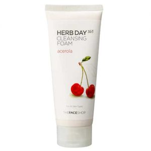 Sữa Rửa Mặt Làm Sáng Da Thefaceshop Herb Day 365 Cleansing Foam Acerola