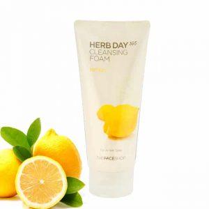 Sữa Rửa Mặt Làm Sáng Da Thefaceshop Herb Day 365 Cleansing Foam Lemon